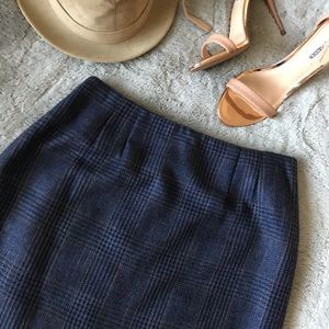 Linda Allard Ellen Tracy Silk Wool Plaid Skirt
